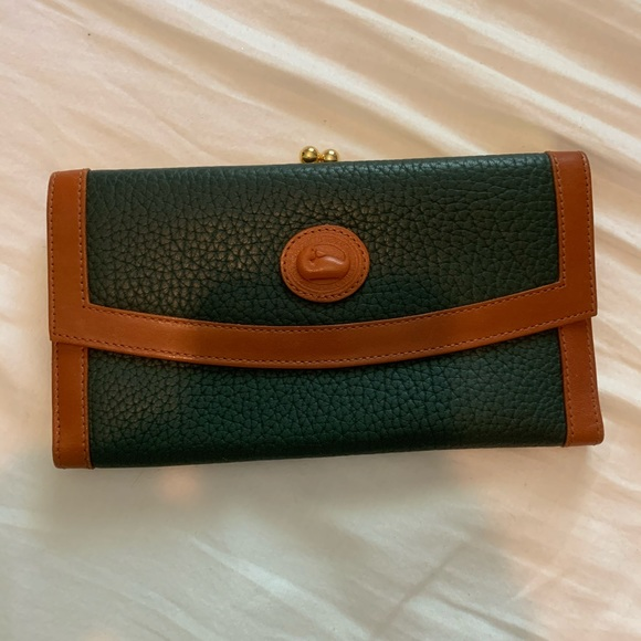 Dooney & Bourke Handbags - Dooney & Bourke hunter green and brown wallet